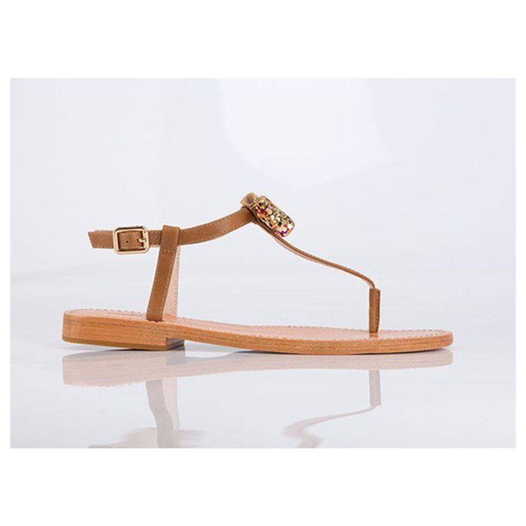 Ballydolly Leather Sandals with Bow Detail