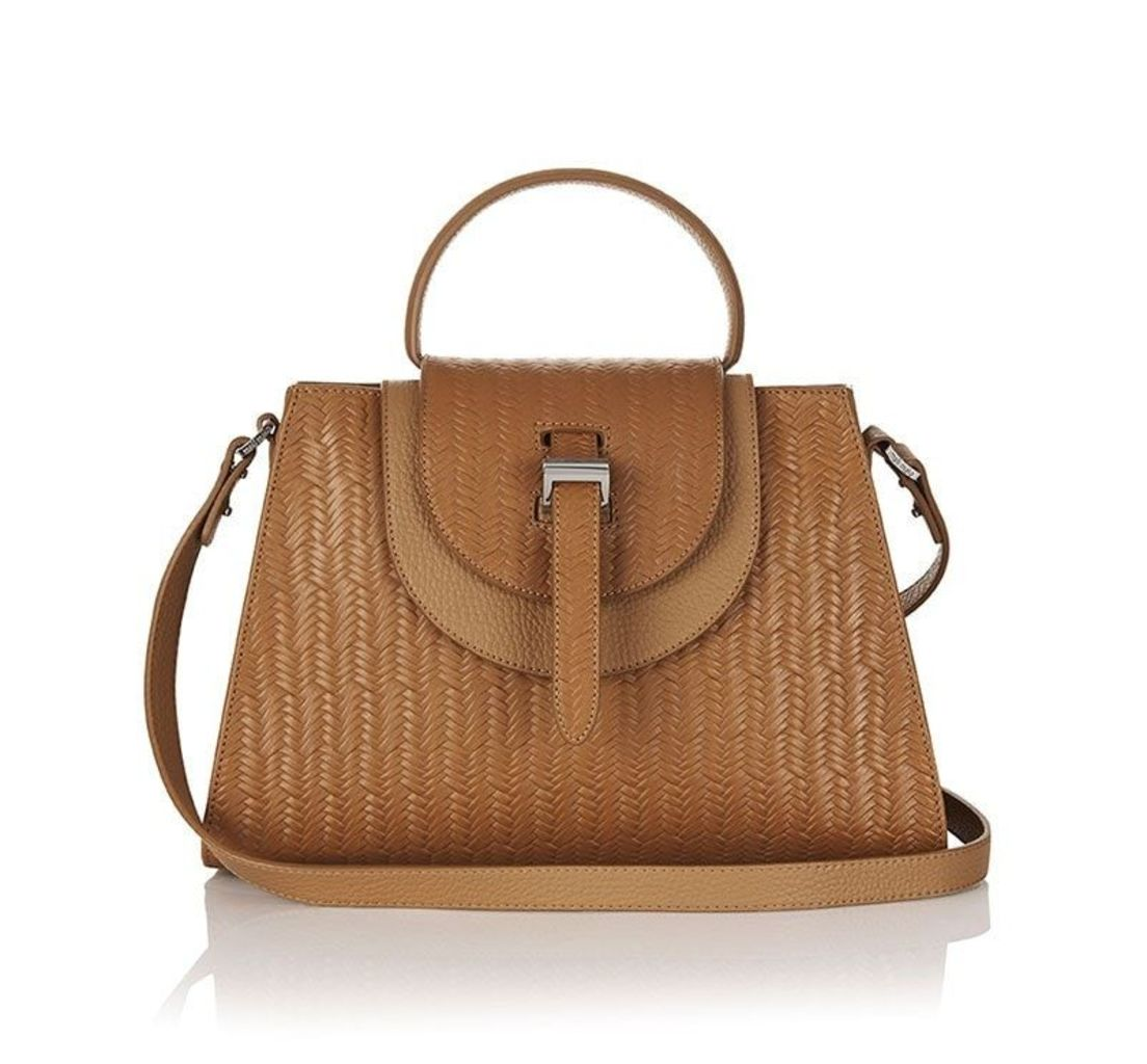 Flavia Cross Body Bag Light Tan Woven