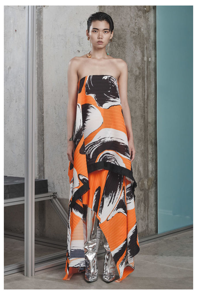 Hester Dress Orange Print