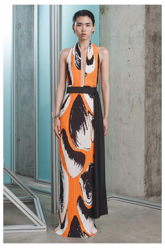 Laryn Maxi Orange Print