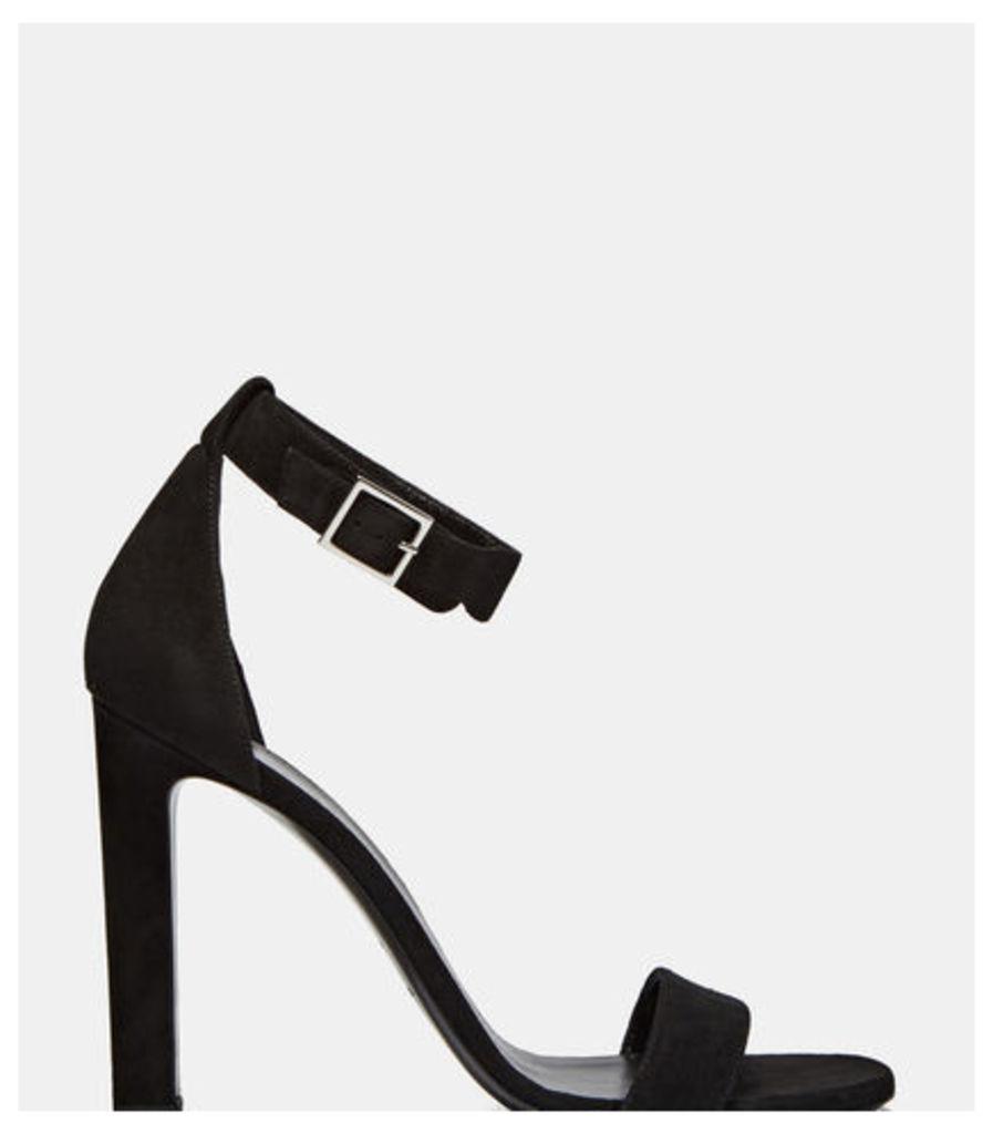 Grace Suede Single Strap Heeled Sandals