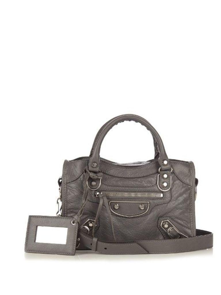 Classic Metallic Edge City mini leather bag
