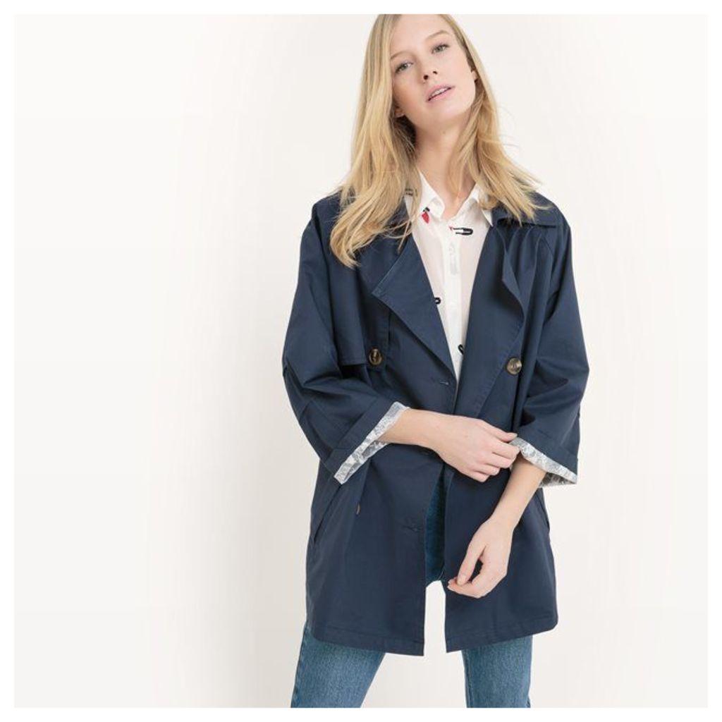 Ladies Women Coat Mid-Length Trench Coat