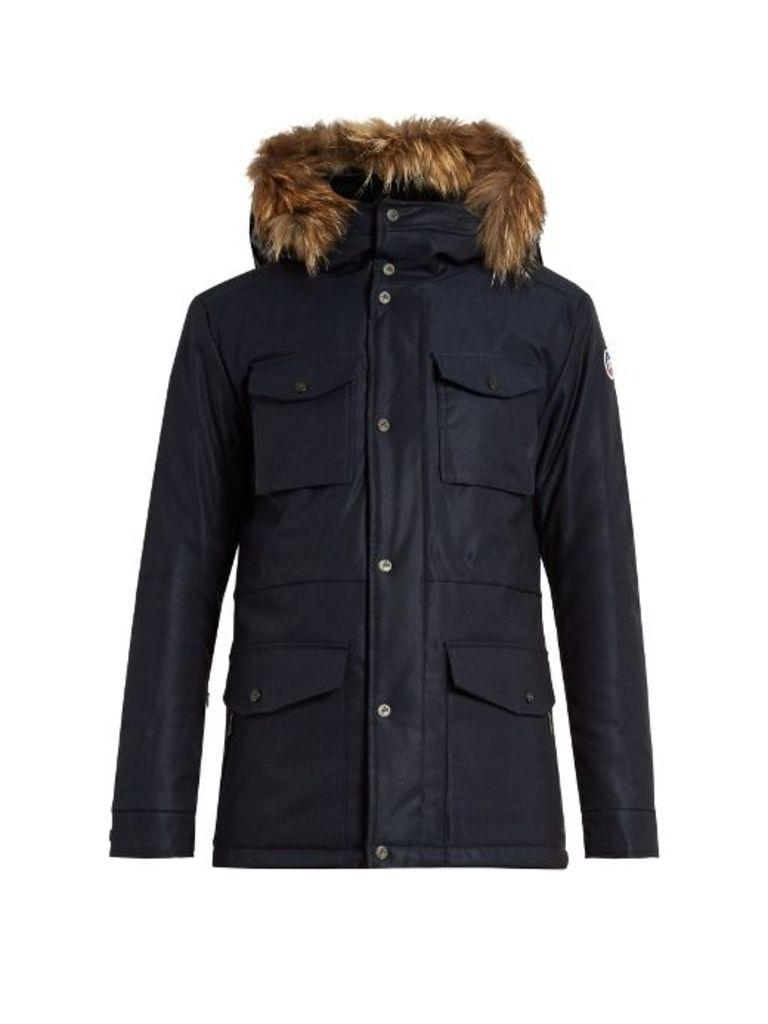 Belledone fur-trimmed hooded ski jacket