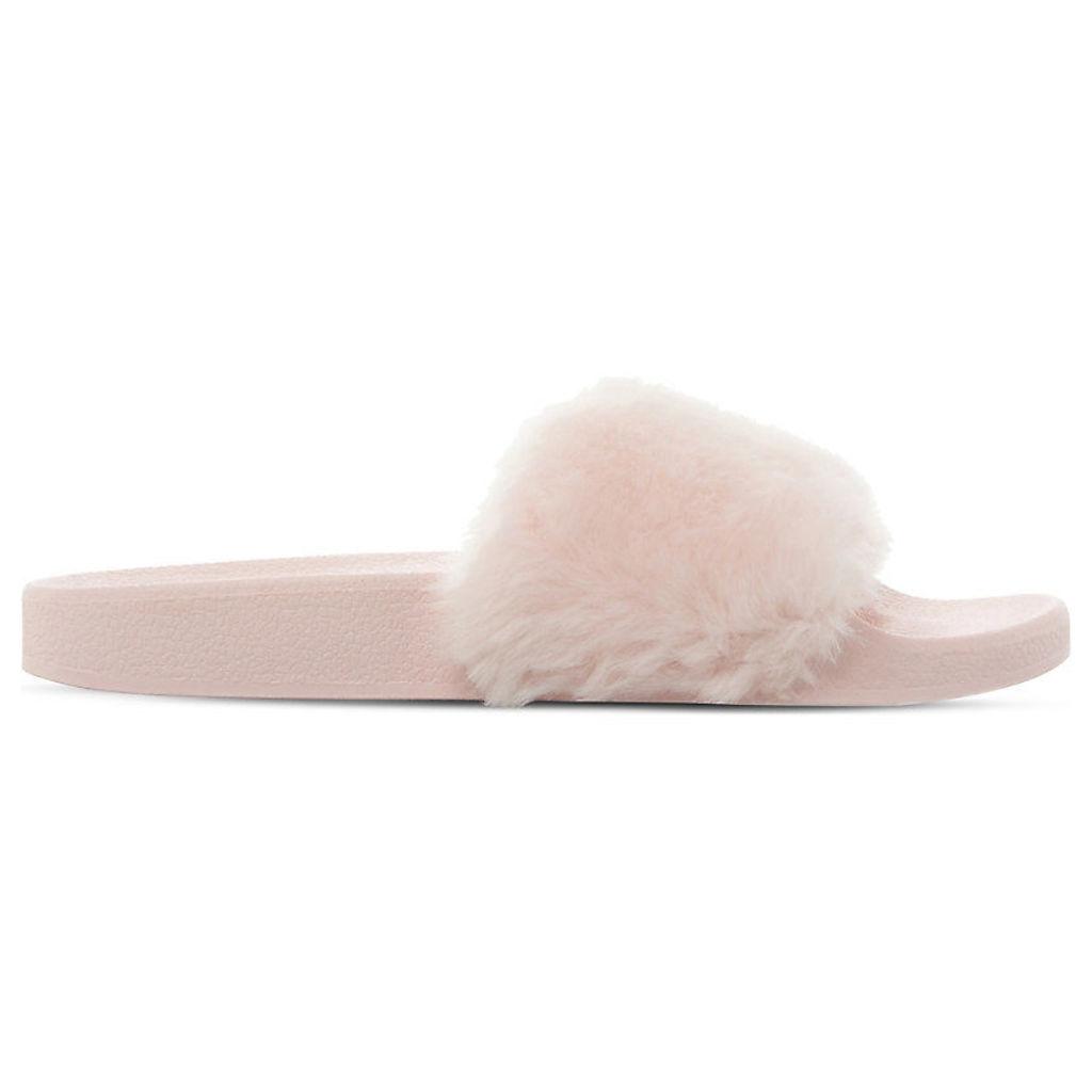 Softey faux-fur slide sandals