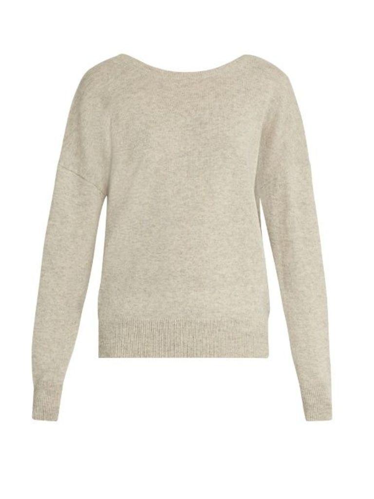 Jolie V-back cashmere sweater