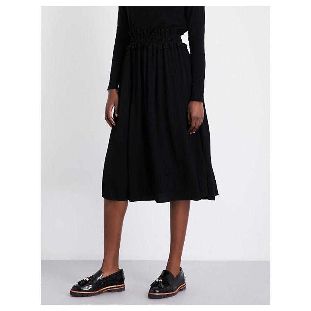 Style crepe midi skirt