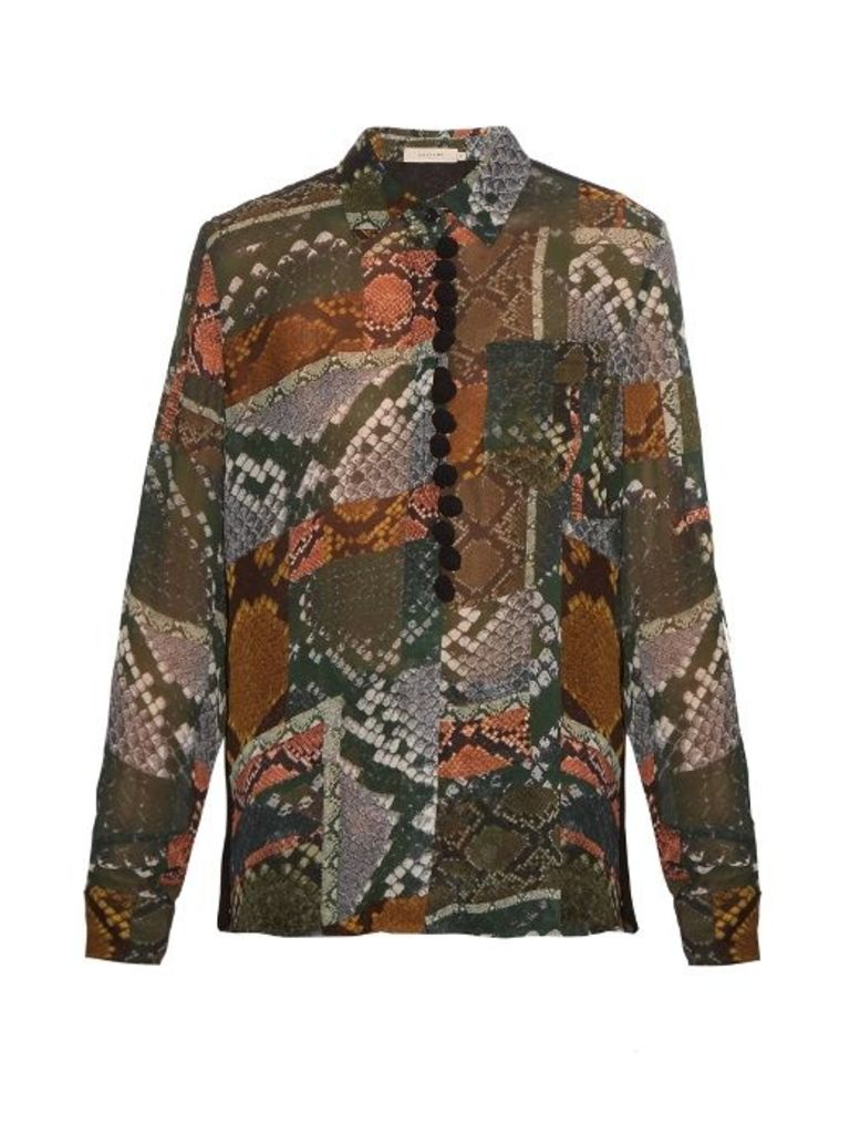 Beth snake-print shirt