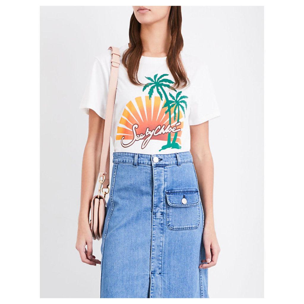 Sunset cotton-jersey T-shirt