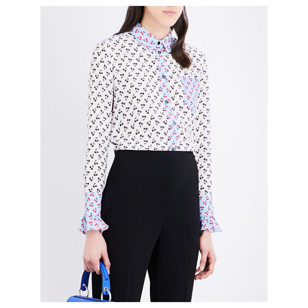 Clovis cherry-print silk shirt