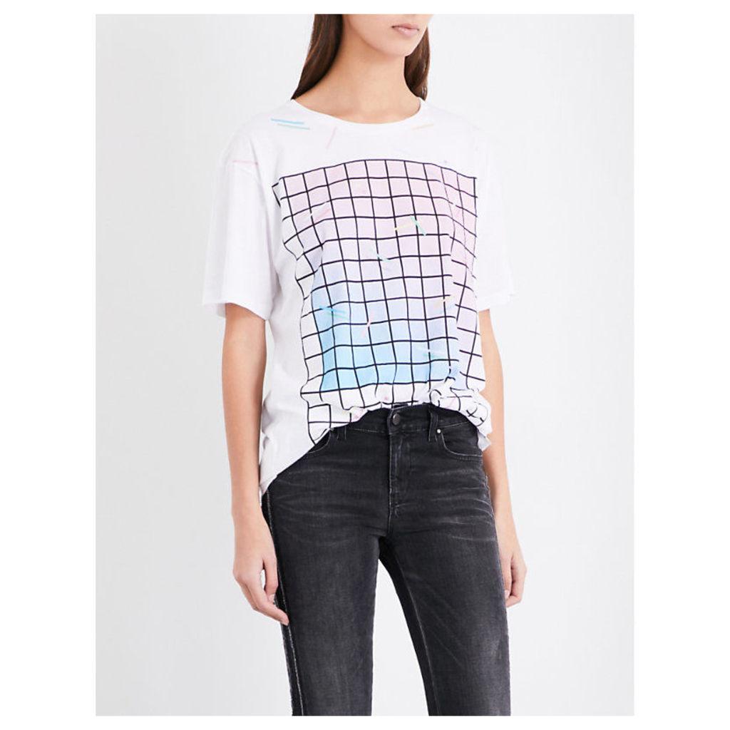 Rachel graphic-print cotton-jersey T-shirt