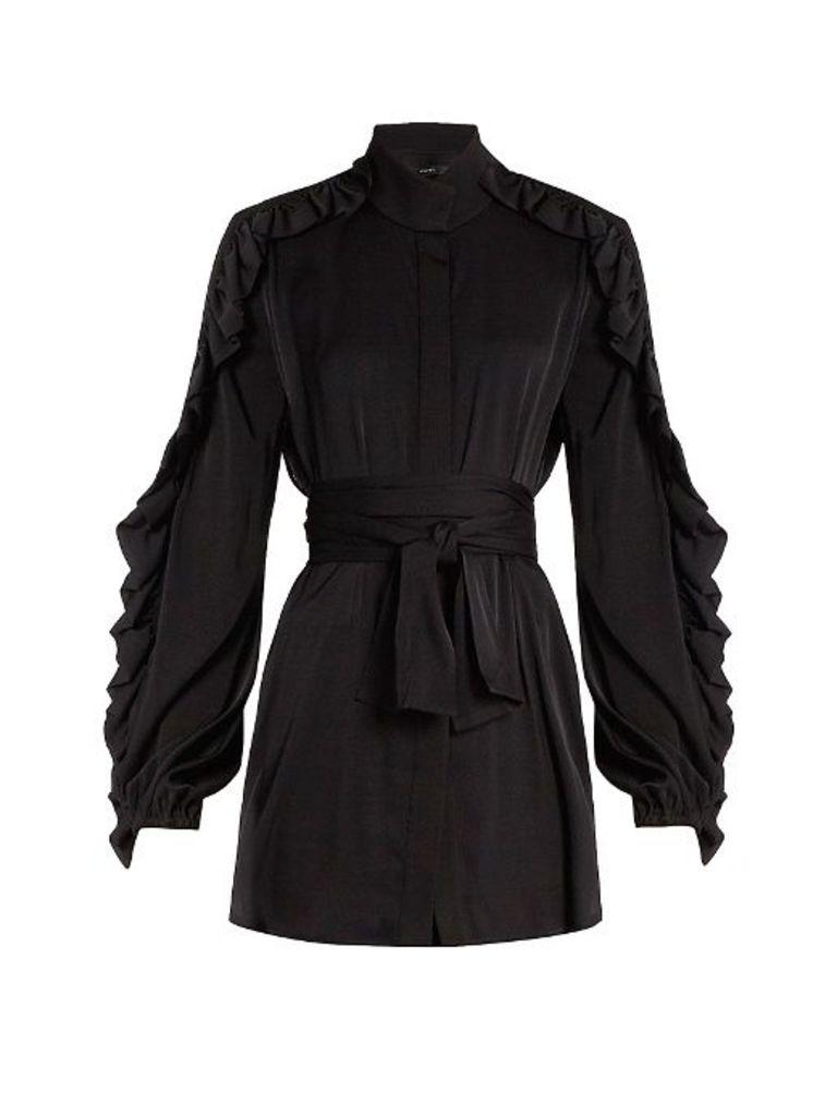 Audacity ruffled-sleeve blouse