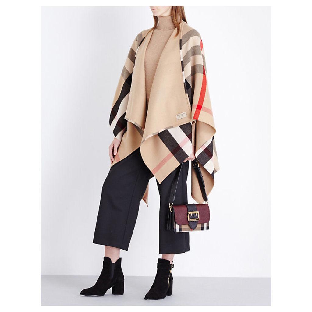 Charlotte reversible wool cape
