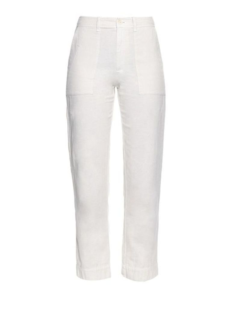 Canton lightweight cotton-twill trousers