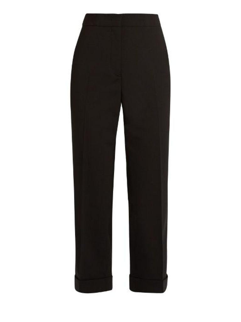 Alfred stretch-wool cropped trousers