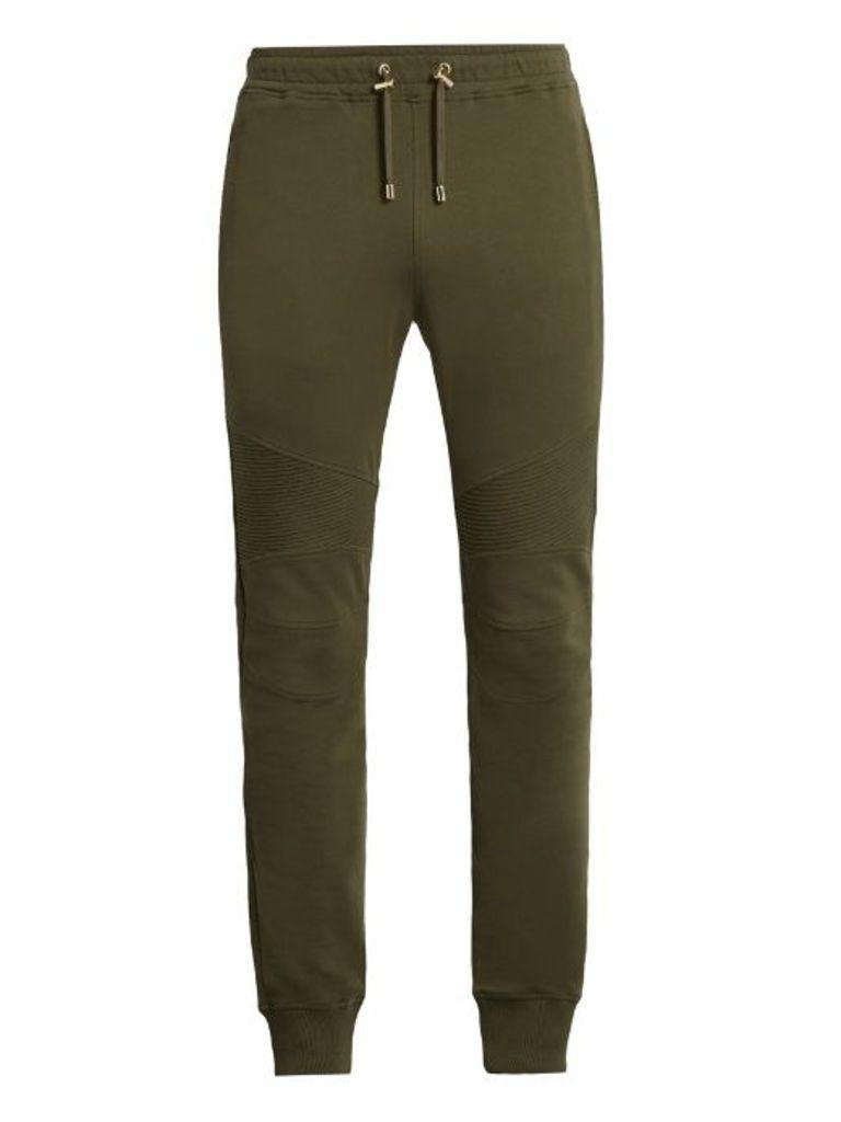 Biker cotton track pants