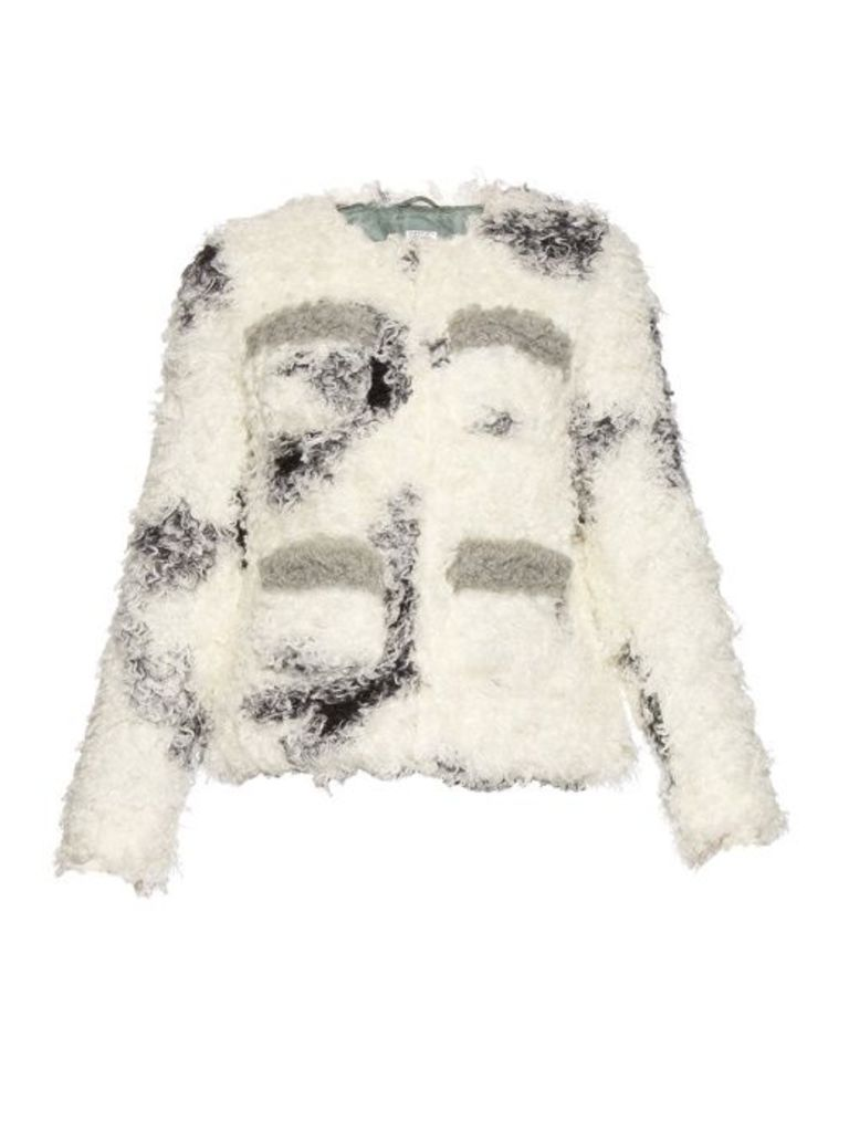 Cindy spotted faux-shearling jacket