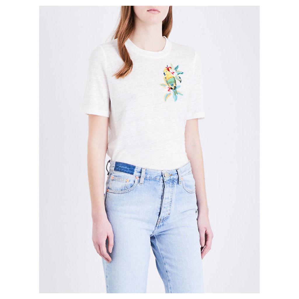Tao linen-jersey T-shirt
