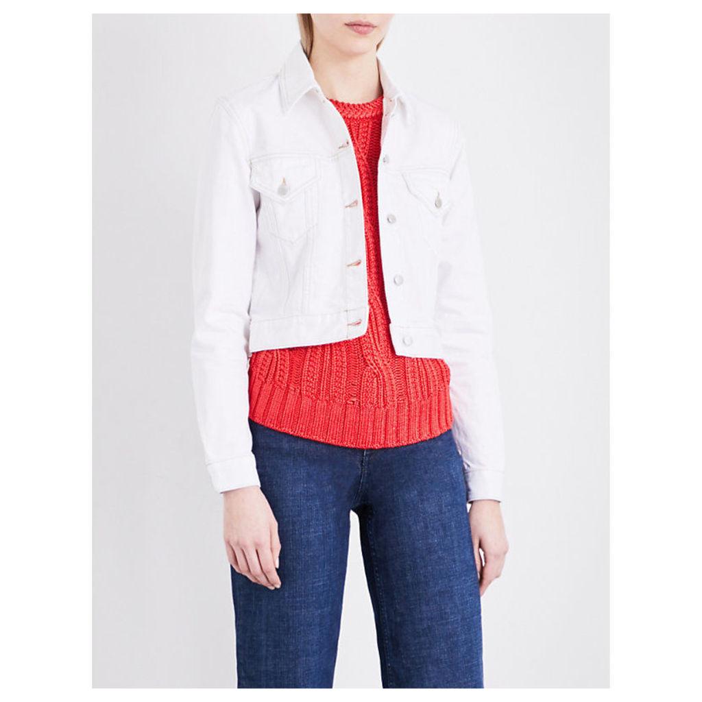 Paradise embroidered denim jacket
