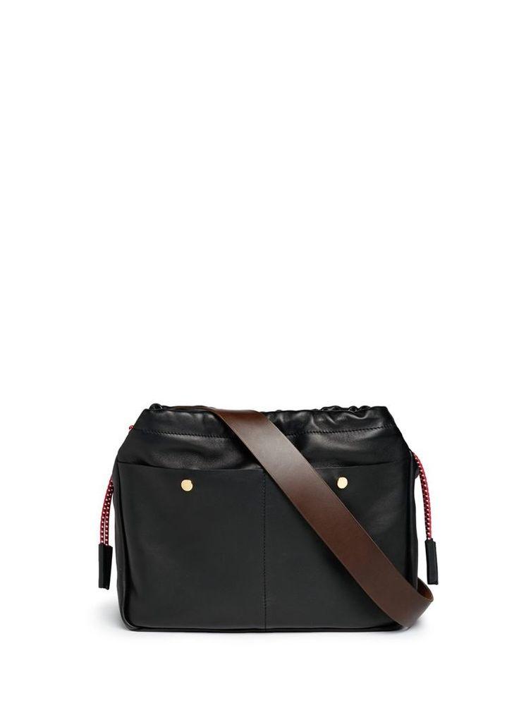 'Swing' lambskin leather drawstring bag