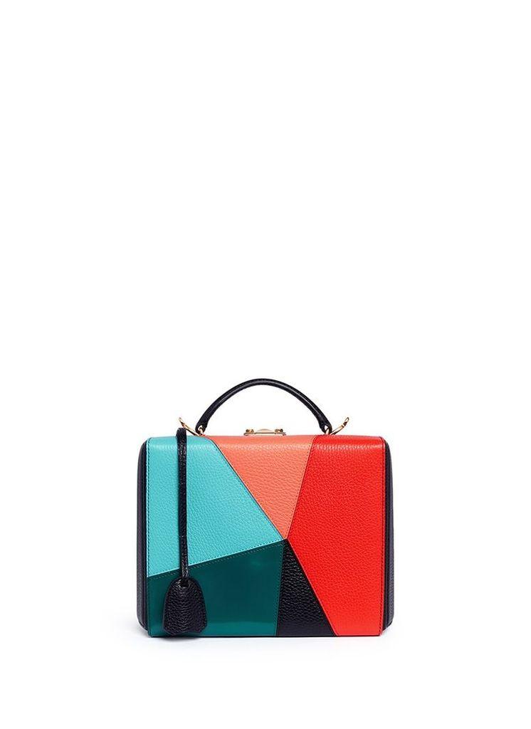 'Grace Large Box' kaleidoscope patchwork leather trunk