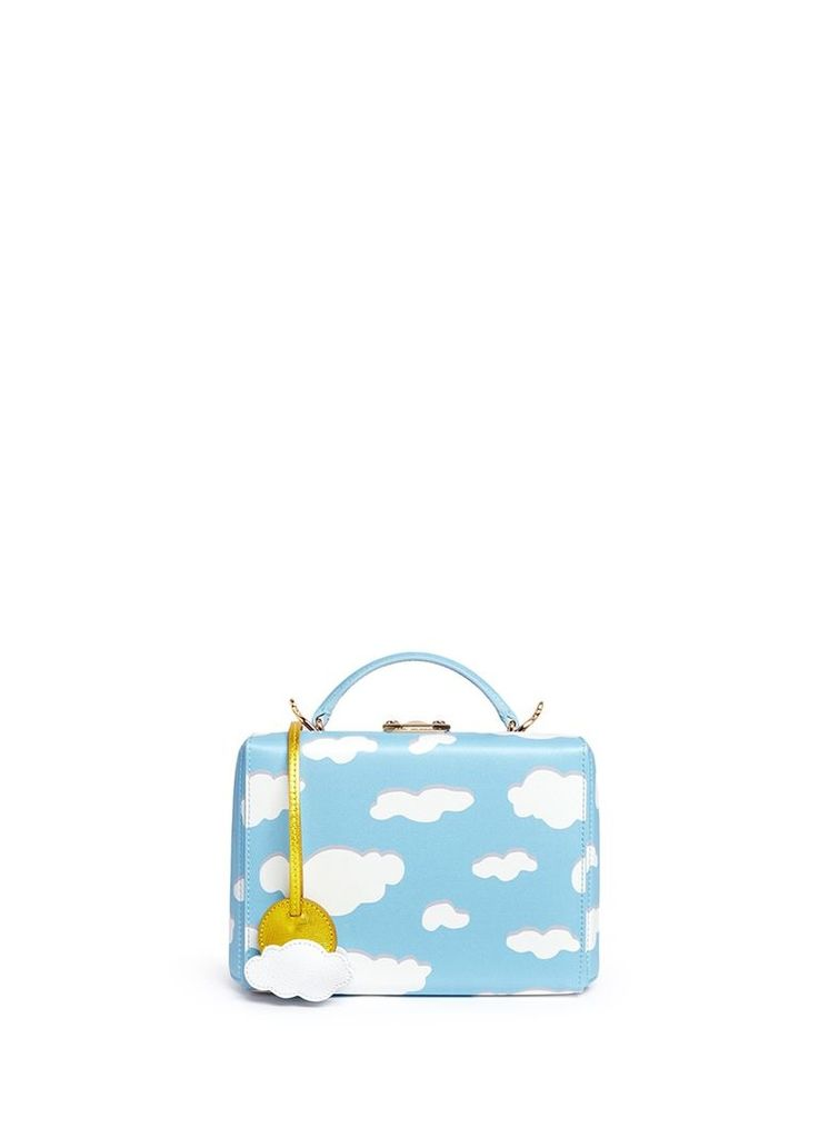 'Grace Small Box' cloud print leather trunk