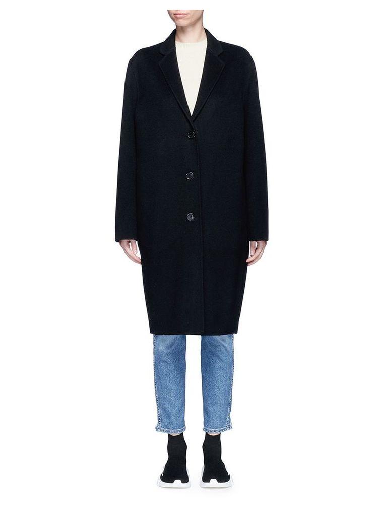 'Avalon' double faced cashmere-wool melton coat