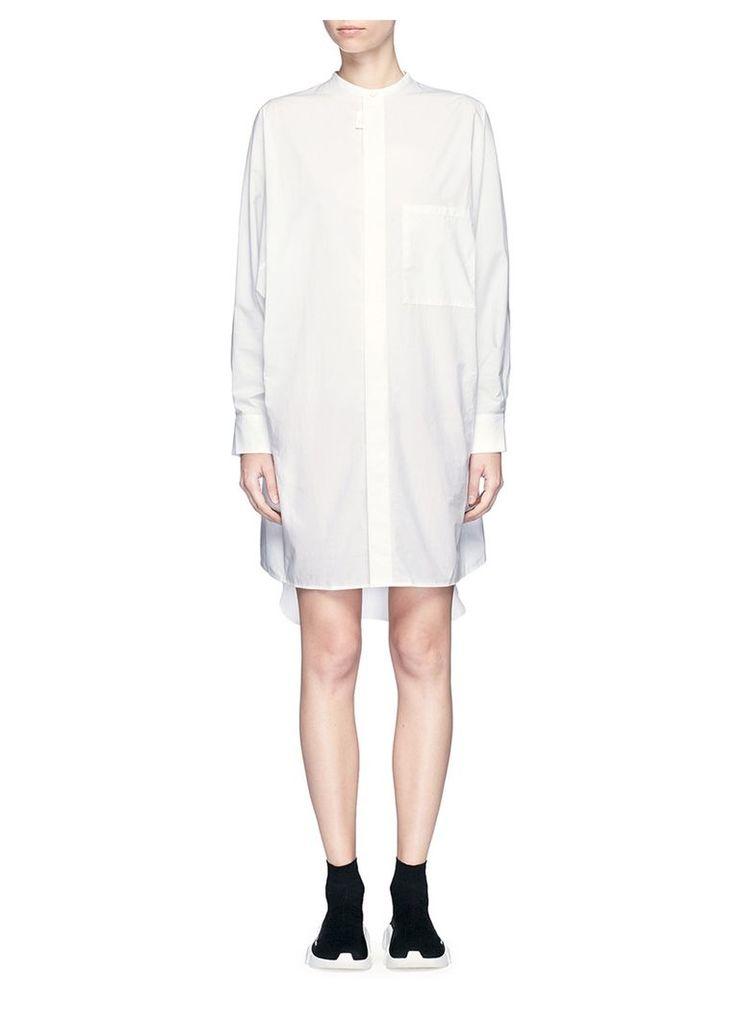 'Siva' pleat cuff cotton poplin shirt dress