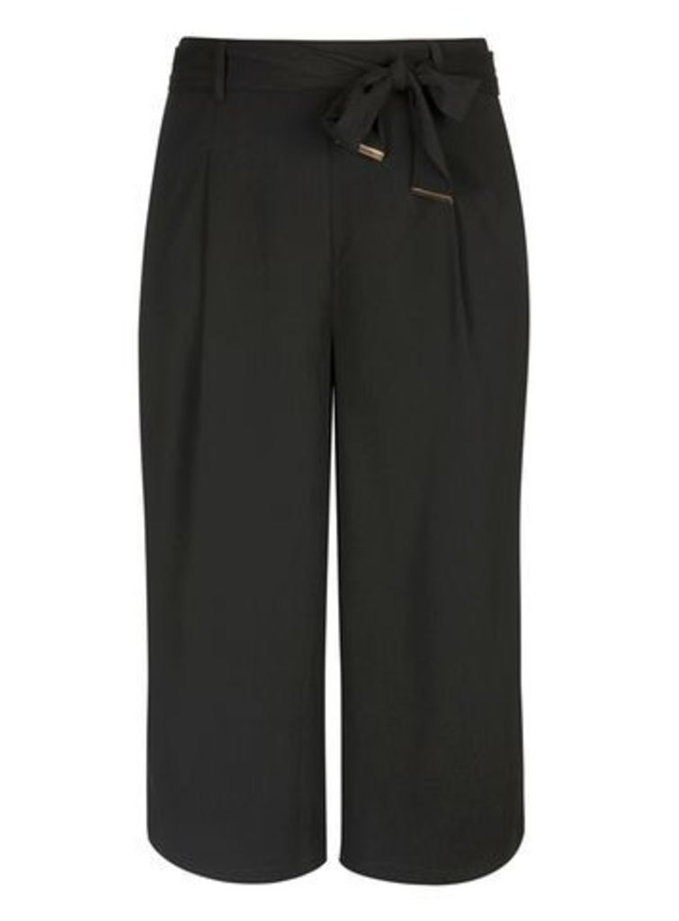 City Chic Black Culottes Trousers, Black