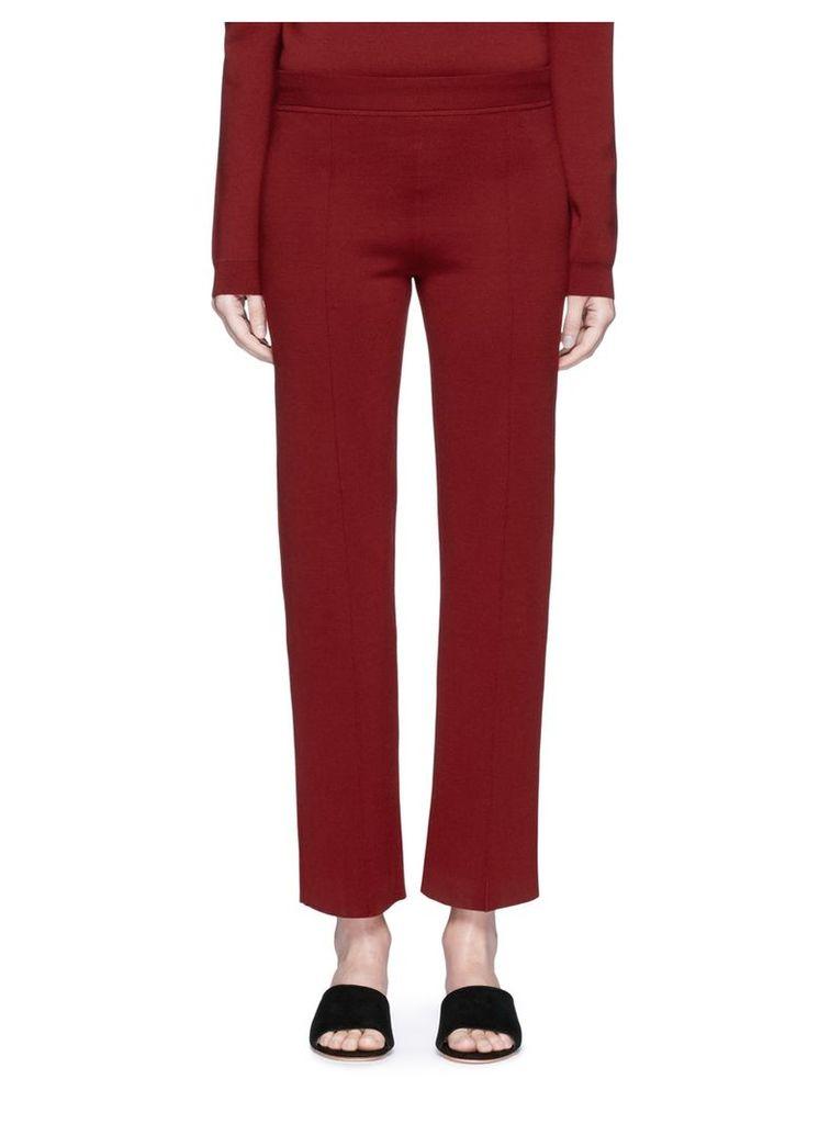 'Destiny' virgin wool blend jersey pants