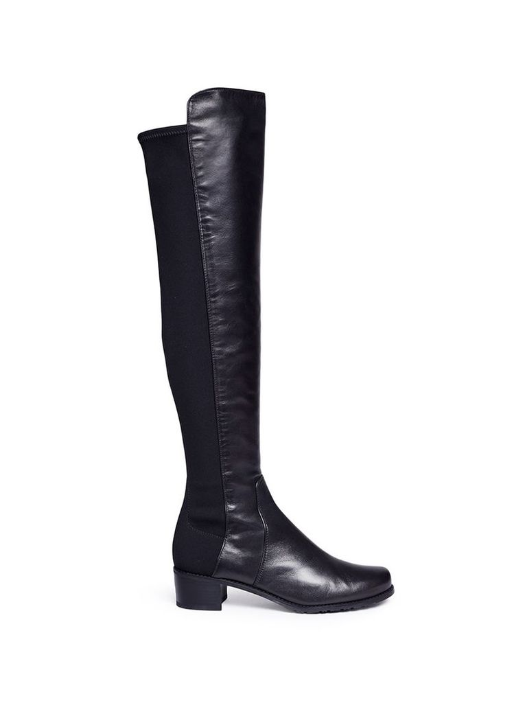'Reserve' elastic back leather boots