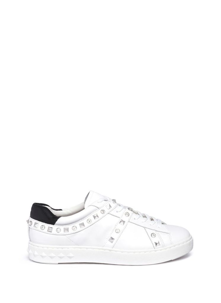 'Play' strass stud leather sneakers