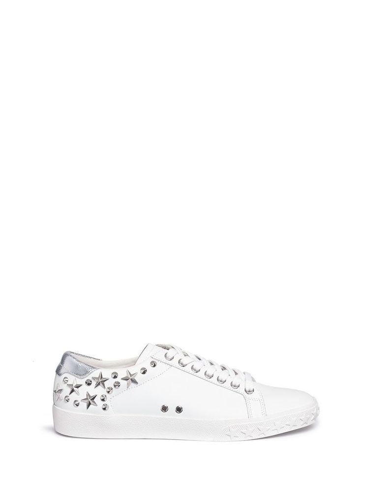 'Dazed' star stud calfskin leather sneakers