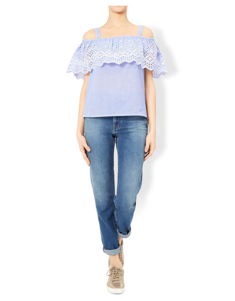 Shania Embroidered Off Shoulder Top