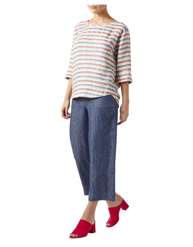 Georgina Linen Stripe T-Shirt
