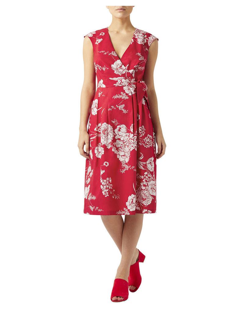 Poppy Poplin Wrap Dress