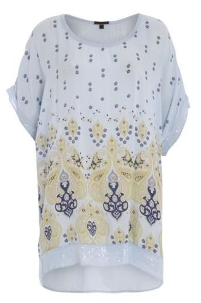Batwing Top with Ethnic Print