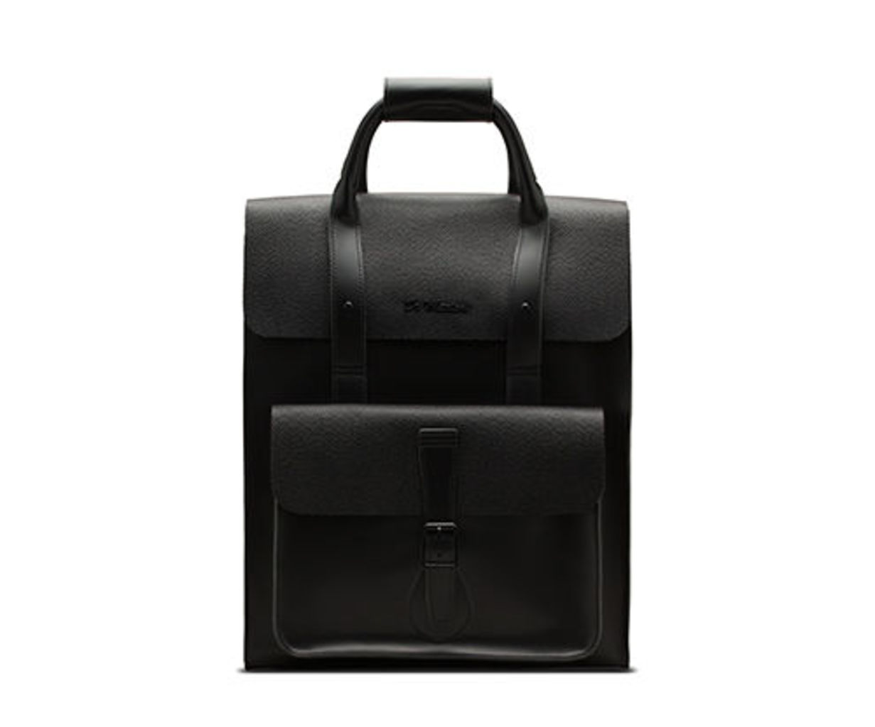 Leather Pebble Backpack
