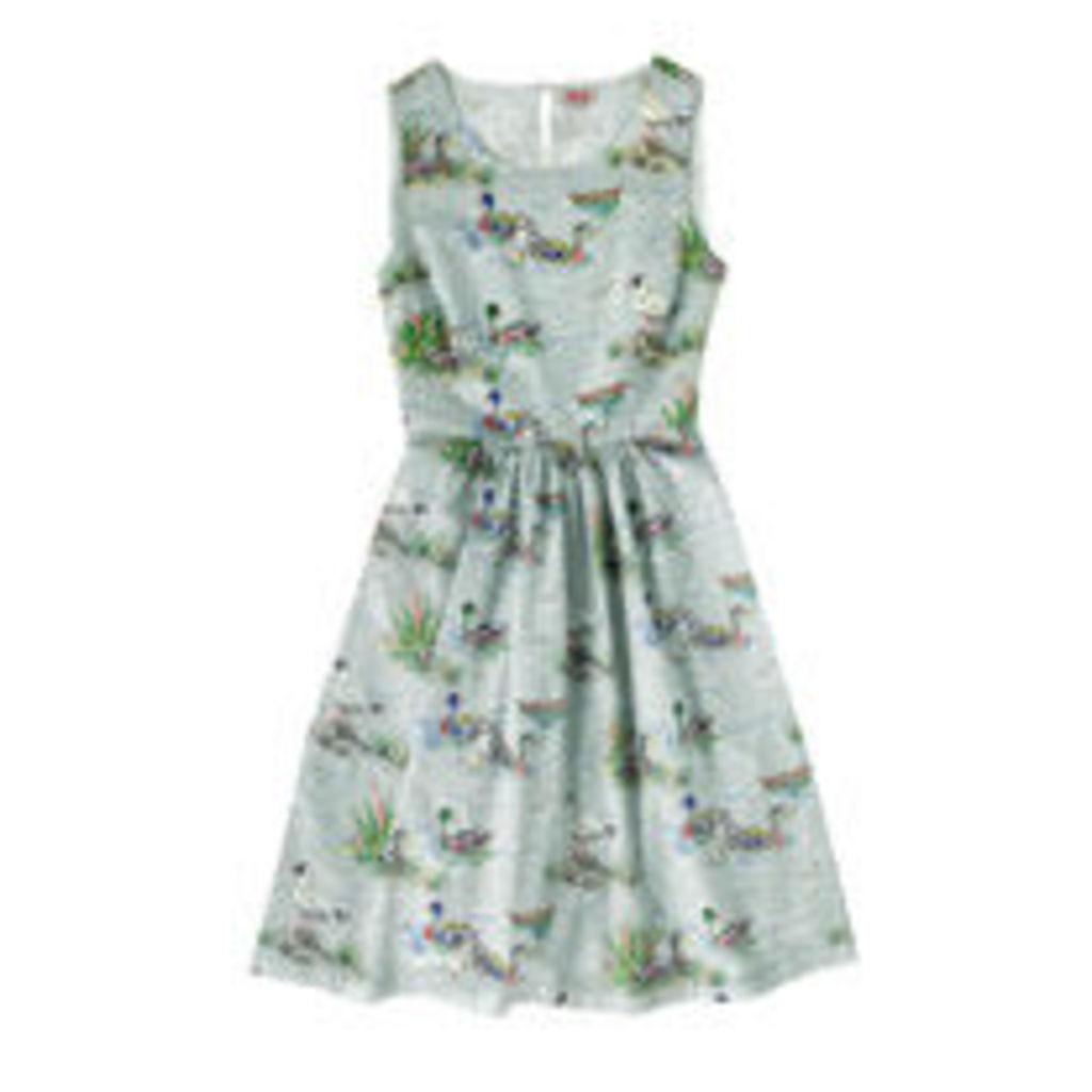 Duck Pond Gathered Waist Detail Dress