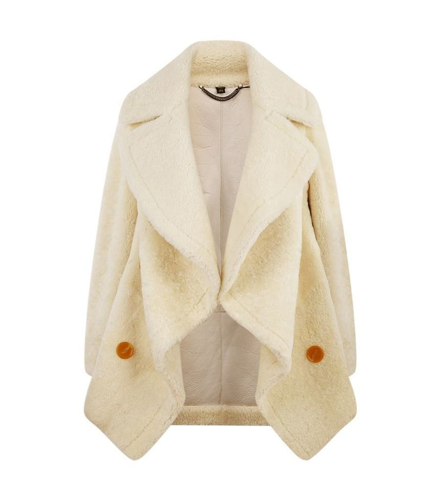 Burberry Runway, Shearling Teddy Bear Pea Coat, Female