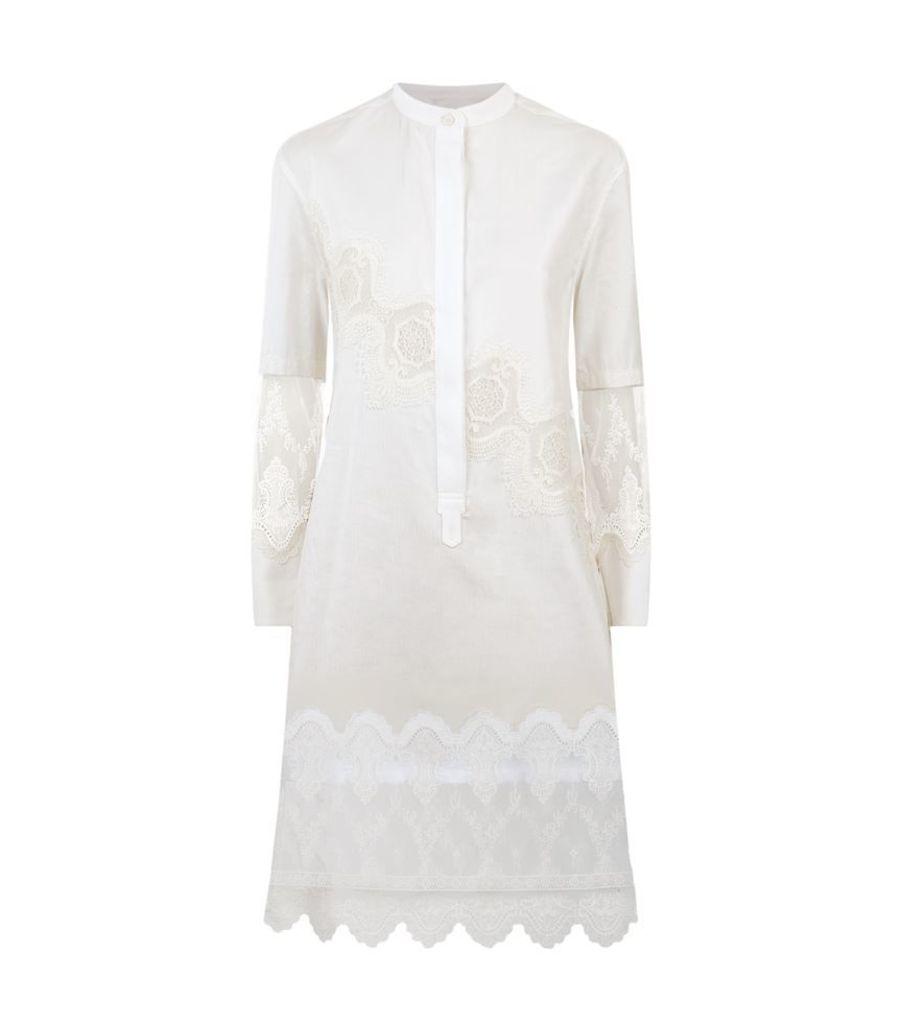 Burberry Runway, Lace-Insert Shirt Dress, Female