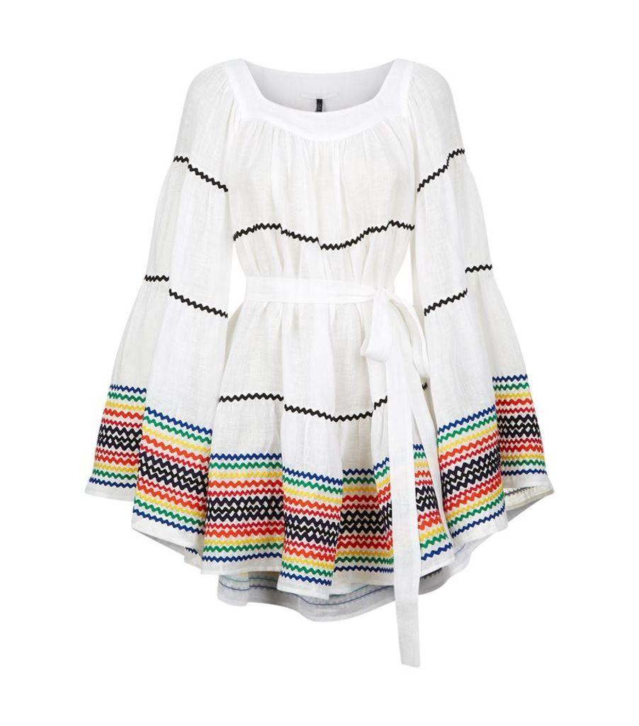 Lisa Marie Fernandez, Ric Rac Linen Peasant Dress, Female