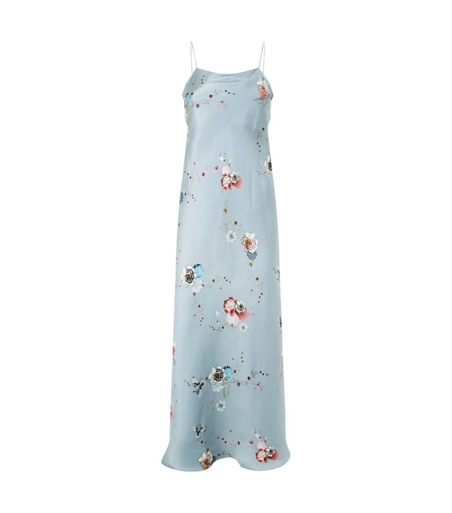 Meng, Floral Printed Silk Slip, Female