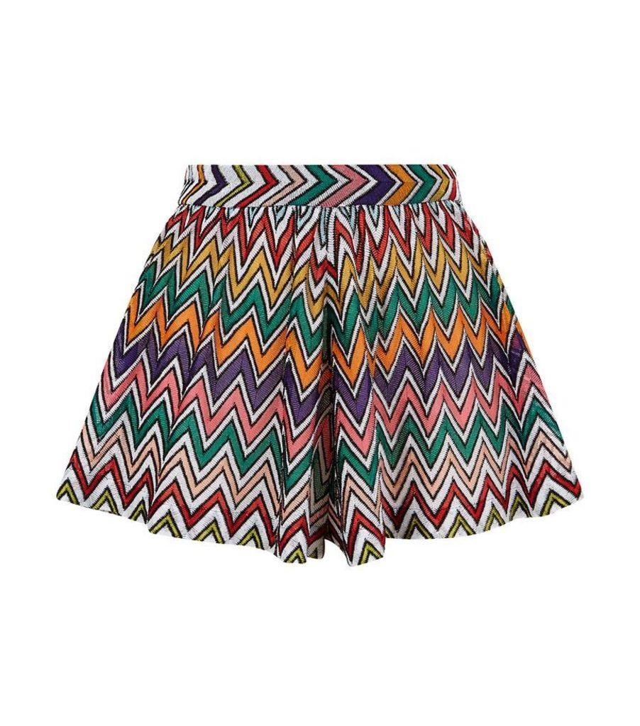 Missoni Mare, Zig Zag Knit Shorts, Female