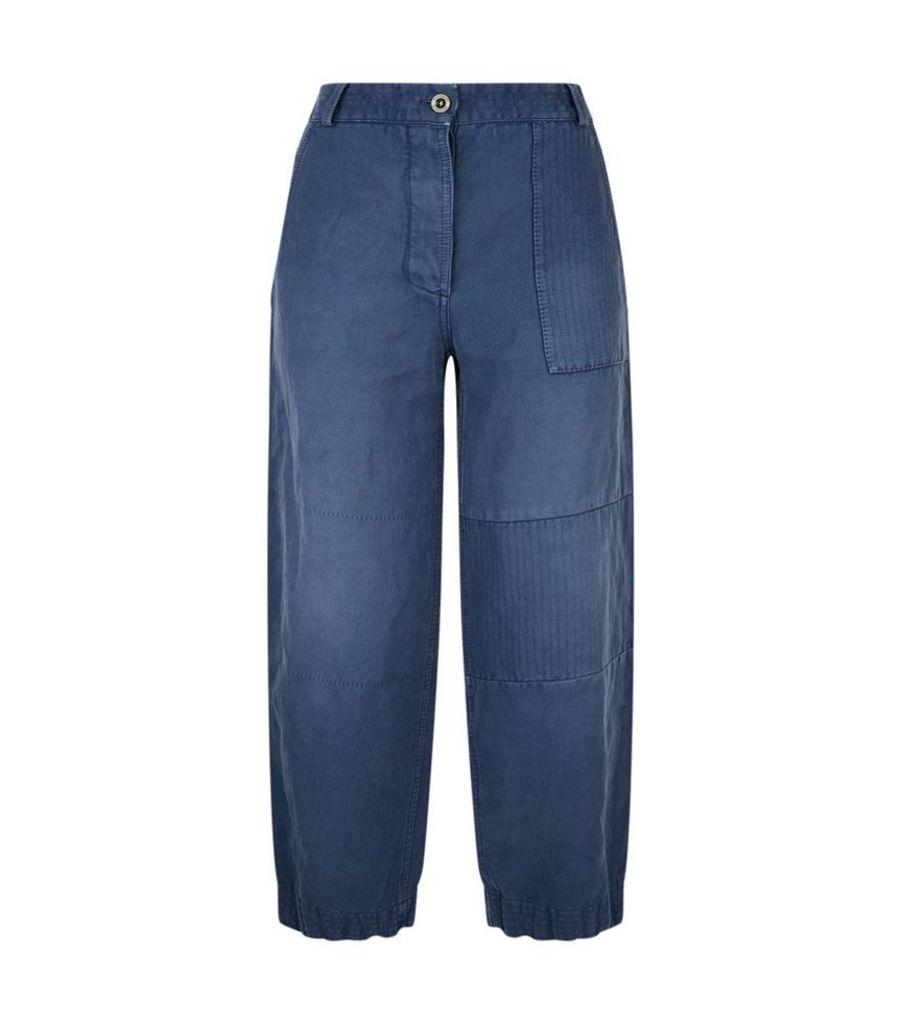 Burberry Runway, Ramie Workwear Trousers, Female