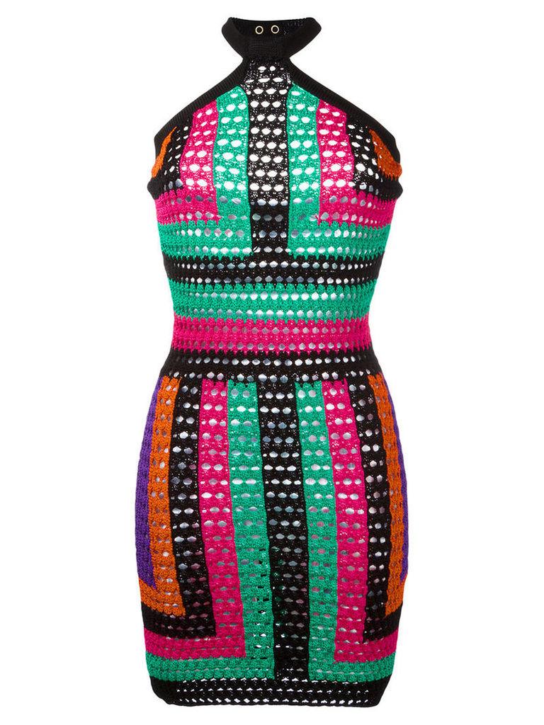 Balmain geometric print dress, Women's, Size: 38