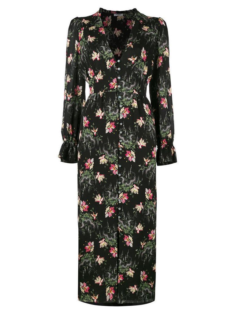 Vilshenko floral print dress, Women's, Size: 14, Black