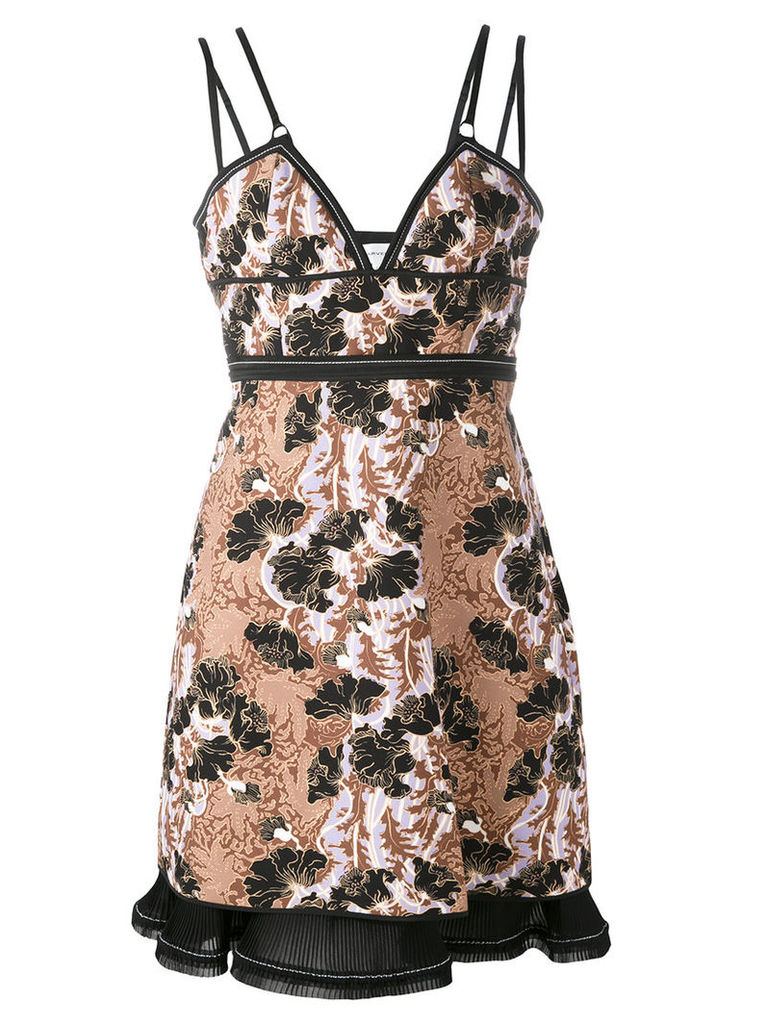 Carven floral jacquard fitted dress, Women's, Size: 38, Black