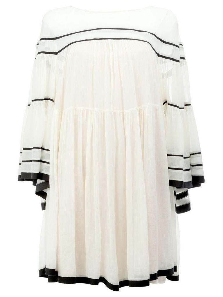 Chloé wide sleeved dress, Women's, Size: 34, Nude/Neutrals