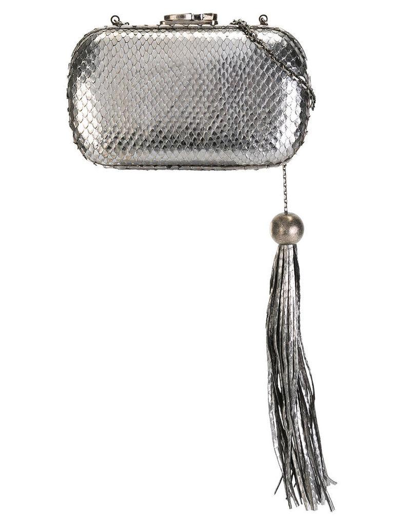 Corto Moltedo Susan clutch bag, Women's, Grey